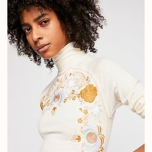 Free People Disco Rose embroidered!
